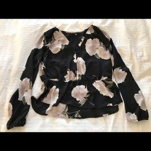 Dynamite peplum top with flowers